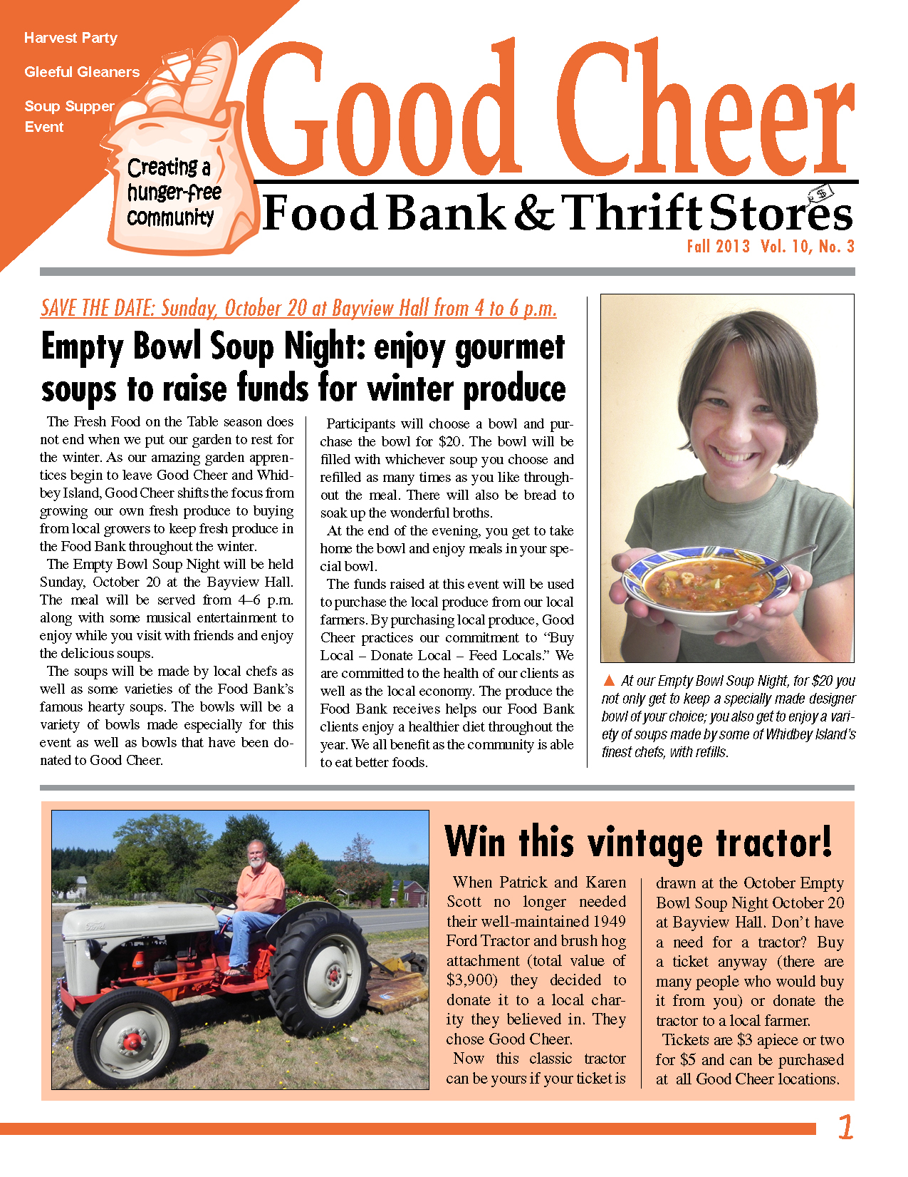 Read Good Cheer's Fall Newsletter Online Now