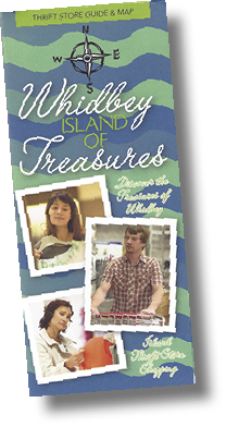 "Whidbey ""Island of Treasures"" Thrift Stores Map"