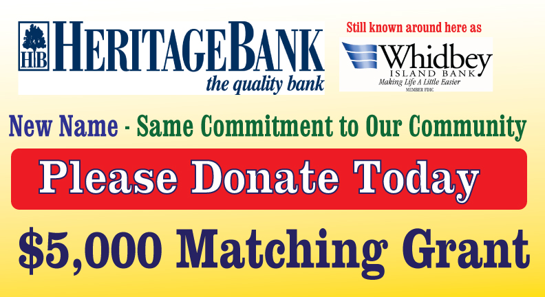 Whidbey Island Bank $5,000 Matching Grant Feeds Families