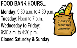 Food Bank Hours 2016