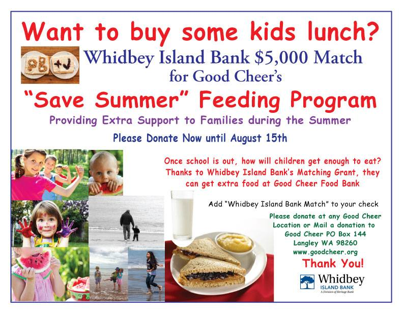 Help Us Meet Whidbey Island Bank's $5,000 Matching Grant